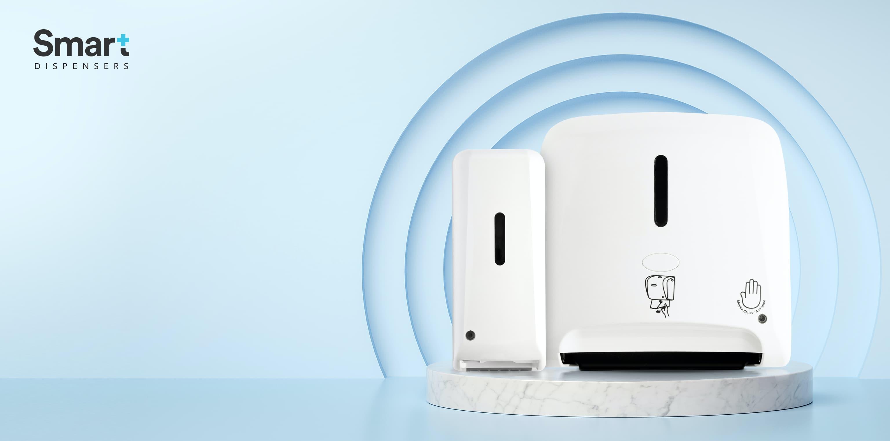 Dispensadores Inteligentes  Envían señales inalámbricas entre sí y te ahorran mucho papel.