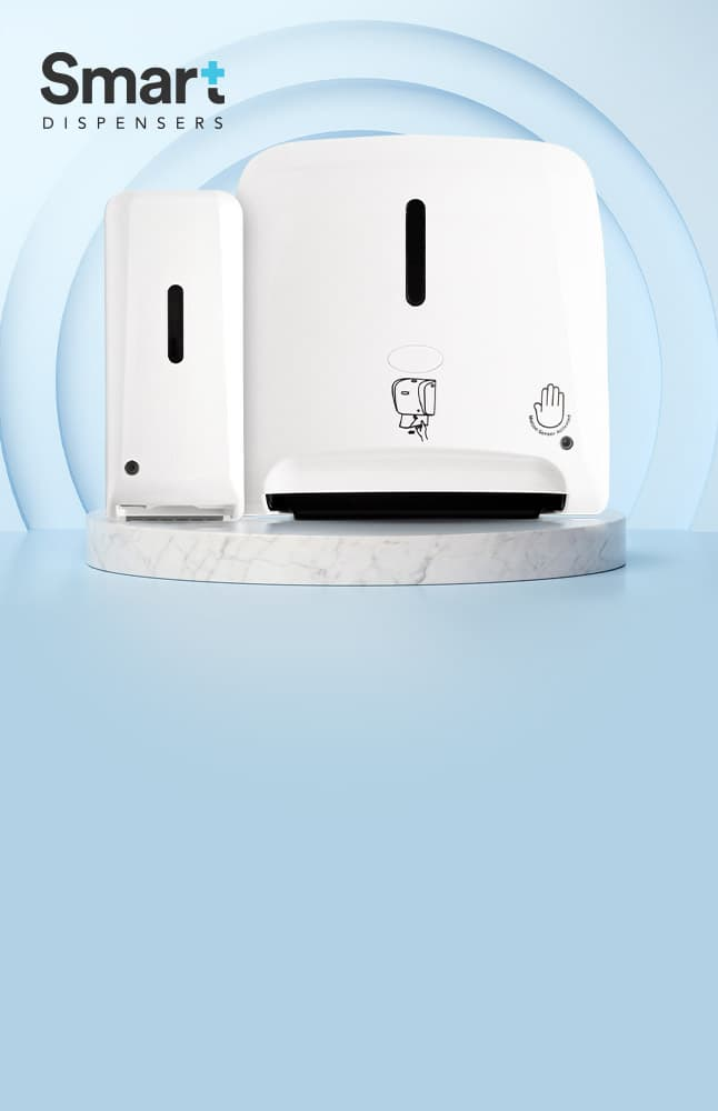<h3>Smart Dispensers</h3><h4>They send each other wireless signals and save you serious paper</h4>