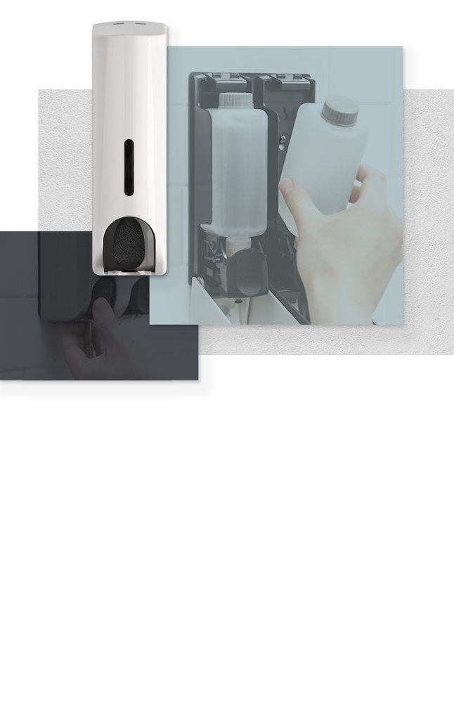 <h3>Soap Dispensers</h3><h4>Most efficient way to clean up without leaving germs, grease behind  </h4>