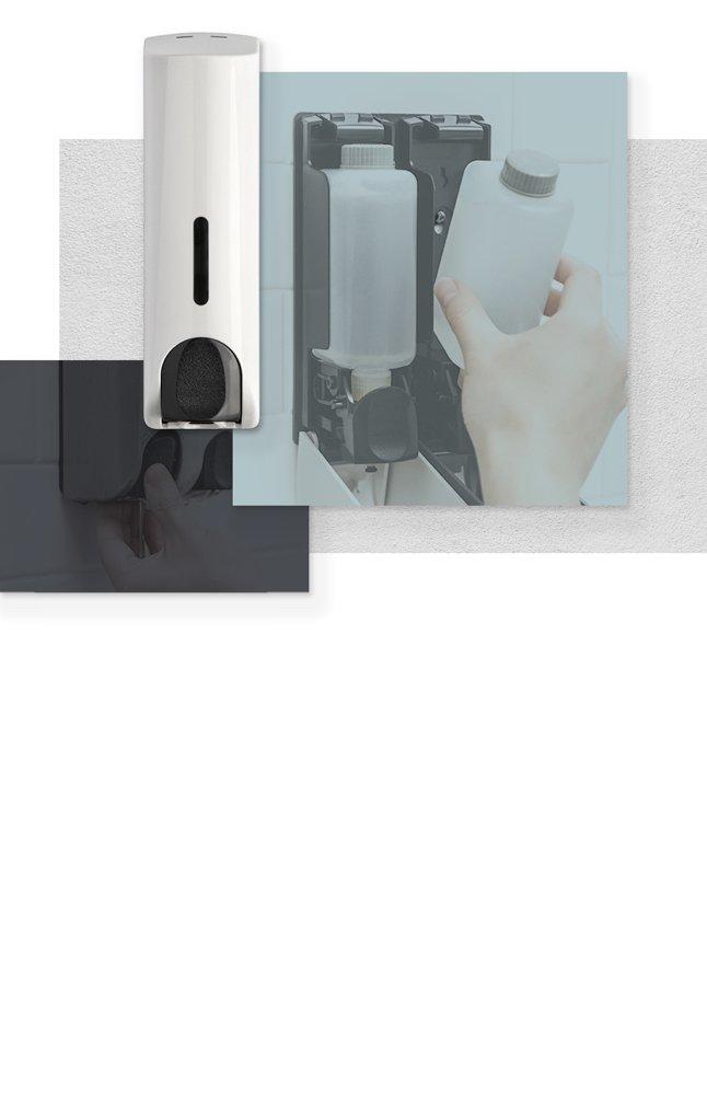 <h3>Dispensadores de jabón</h3><h4>La forma más eficiente de limpiarte sin llenarte de gérmenes o grasa</h4>